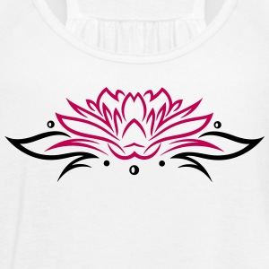 Large lotus flower with small tribal. - Women's Flowy Tank Top by Bella