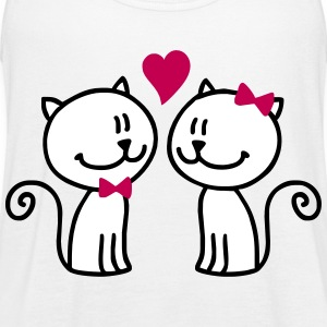 Valentine Kittys - Women's Flowy Tank Top by Bella