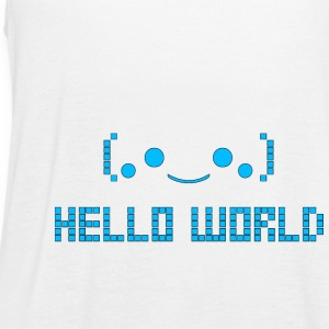 Hello World - Women's Flowy Tank Top by Bella