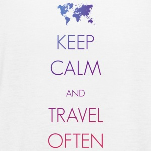Keep calm and travel often - Women's Flowy Tank Top by Bella