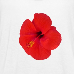 red hibiscus - Women's Flowy Tank Top by Bella