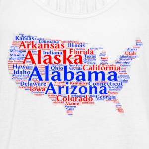 United States Design - Women's Flowy Tank Top by Bella