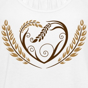 Big heart with cereals. Beautiful bakery motif. - Women's Flowy Tank Top by Bella