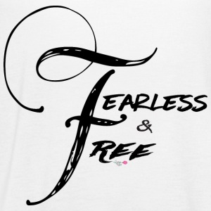 Fearless and Free2 Print - Women's Flowy Tank Top by Bella