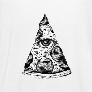 All Seeing Pizza Illuminati eye! - Women's Flowy Tank Top by Bella