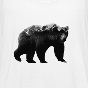 Bear and Mountains - Women's Flowy Tank Top by Bella