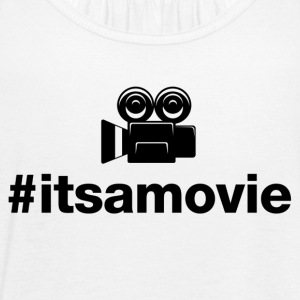 Its A Movie - Hashtag Design (Black Letters) - Women's Flowy Tank Top by Bella