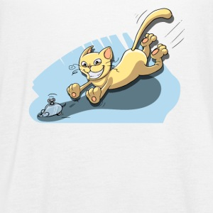 Cat Running After Rat - Tom and Jerry Illustration - Women's Flowy Tank Top by Bella