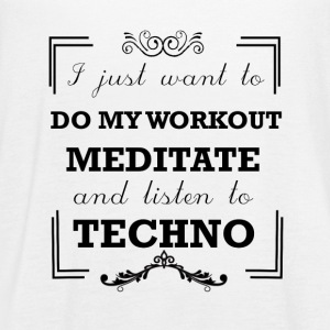 Workout, meditate and listen to techno - Women's Flowy Tank Top by Bella