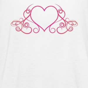 Heart Drop Elegance - Women's Flowy Tank Top by Bella