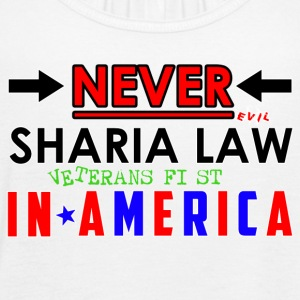 Never Sharia Law - Women's Flowy Tank Top by Bella