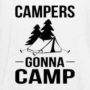 Campers Gonna Camp - Women's Flowy Tank Top by Bella