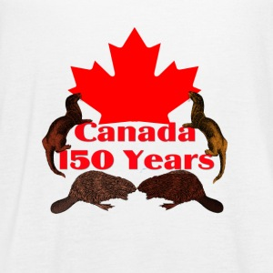 Canada 150 otter and beaver - Women's Flowy Tank Top by Bella