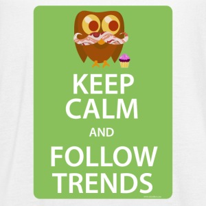 Keep Calm Trendy Bacon Owl - Women's Flowy Tank Top by Bella