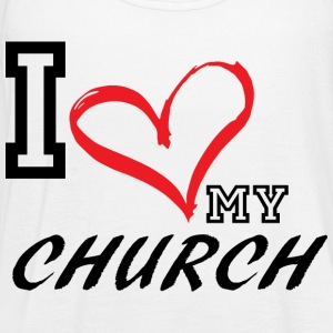I_LOVE_MY_CHURCH - PLUS SIZE FIT - Women's Flowy Tank Top by Bella