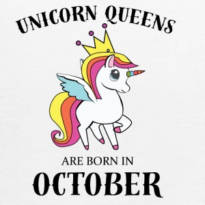 UNICORN QUEENS ARE BORN IN OCTOBER - Women's Flowy Tank Top by Bella