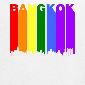 Bangkok Thailand Skyline Rainbow LGBT Gay Pride - Women's Flowy Tank Top by Bella