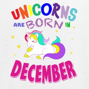 Unicorns Are Born In December - Women's Flowy Tank Top by Bella