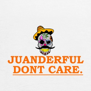 JUANDERFUL DONT CARE COLORFUL MEXICAN SKULL - Women's Flowy Tank Top by Bella