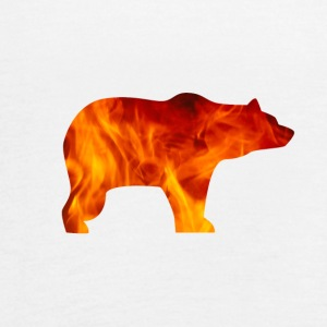 bear burning - Women's Flowy Tank Top by Bella
