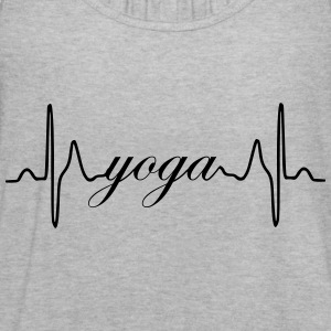 Yoga ECG Heartbeat - Women's Flowy Tank Top by Bella