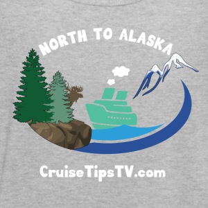 North to Alaska - White Font & Brown Moose - Women's Flowy Tank Top by Bella