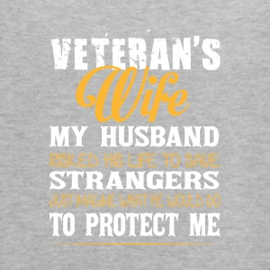Veteran's Wife My Husband T Shirt - Women's Flowy Tank Top by Bella