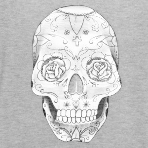 skull with roses in eyes - Women's Flowy Tank Top by Bella