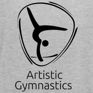 Artistic_gymnastics_black - Women's Flowy Tank Top by Bella