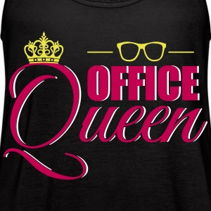 Cute Office Queen T-Shirt for Secretary - Women's Flowy Tank Top by Bella