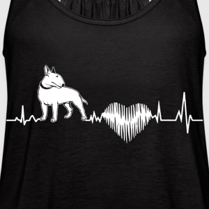 Bull Terrier Heartbeat Shirt - Women's Flowy Tank Top by Bella