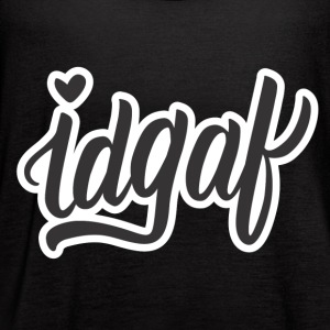 IDGAF (Black) - Women's Flowy Tank Top by Bella