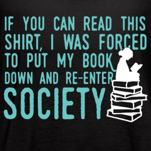 If You Can Read This Read Book Shirt - Women's Flowy Tank Top by Bella