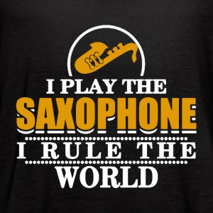I Play the Saxophone Tee Shirt - Women's Flowy Tank Top by Bella