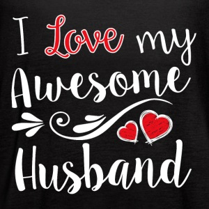 I Love My Awesome Husband T-Shirt - Women's Flowy Tank Top by Bella
