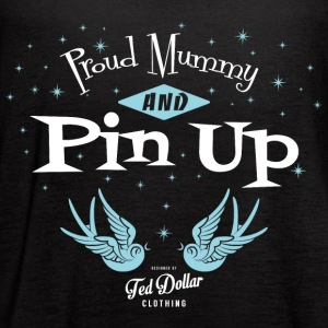 Proud mummy and Pin Up - Women's Flowy Tank Top by Bella