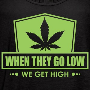 When They Go Low, We Get High (Green Print) - Women's Flowy Tank Top by Bella