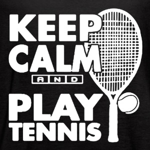 KEEP CALM AND PLAY TENNIS SHIRT - Women's Flowy Tank Top by Bella