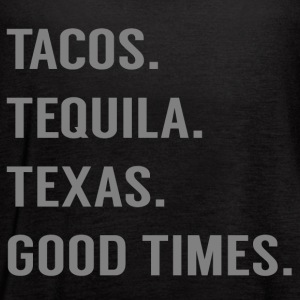 Tacos and More (Grey) - Women's Flowy Tank Top by Bella
