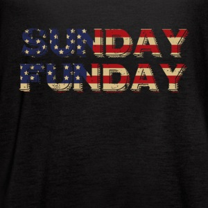 SUNDAY FUNDAY USA SHIRT - Women's Flowy Tank Top by Bella