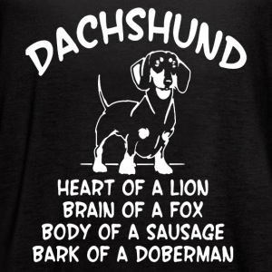 DACHSHUND TEE SHIRT - Women's Flowy Tank Top by Bella