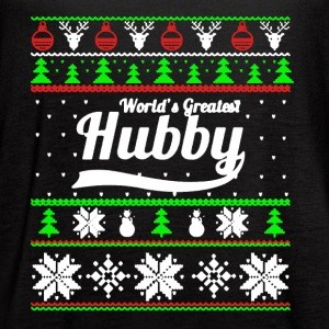 Greatest Hubby Christmas Shirt - Women's Flowy Tank Top by Bella