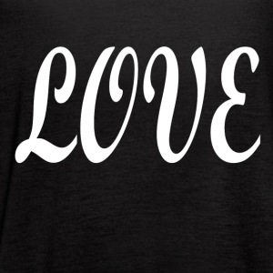 Love white font - Women's Flowy Tank Top by Bella
