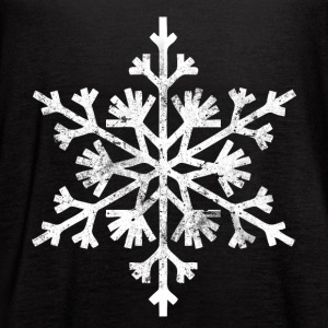 Big snowflake christmas t shirt - Women's Flowy Tank Top by Bella