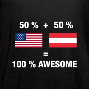 Half Austrian Half American 100% Awesome Flag Aust - Women's Flowy Tank Top by Bella