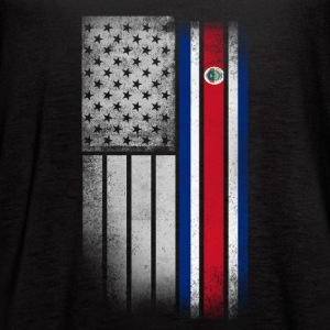 Costa Rican American Flag - Women's Flowy Tank Top by Bella