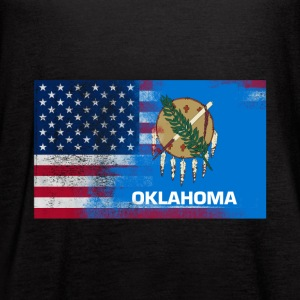 Oklahoma American Flag Fusion - Women's Flowy Tank Top by Bella