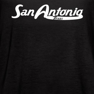 San Antonio Texas Vintage Logo - Women's Flowy Tank Top by Bella