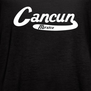 Cancun Mexico Vintage Logo - Women's Flowy Tank Top by Bella
