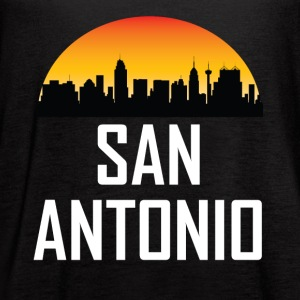 Sunset Skyline Silhouette of San Antonio TX - Women's Flowy Tank Top by Bella